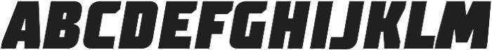 TT Supermolot Condensed Black Italic otf (900) Font UPPERCASE