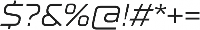 TT Supermolot Neue Expanded Italic otf (400) Font OTHER CHARS