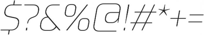TT Supermolot Thin Italic otf (100) Font OTHER CHARS