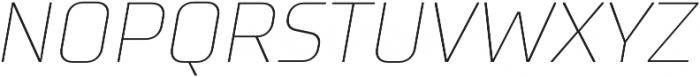 TT Supermolot Thin Italic otf (100) Font UPPERCASE