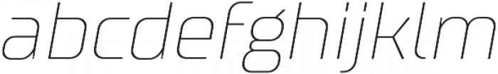 TT Supermolot Thin Italic otf (100) Font LOWERCASE