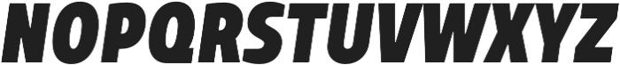 TT Teds ExtraBold Italic otf (700) Font UPPERCASE