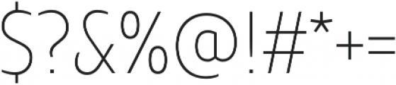 TT Teds ExtraLight otf (200) Font OTHER CHARS
