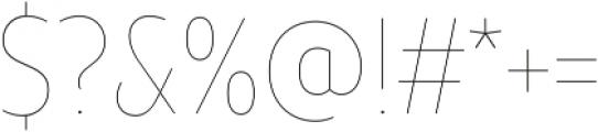 TT Teds Hairline otf (100) Font OTHER CHARS