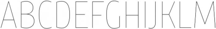 TT Teds Hairline otf (100) Font UPPERCASE