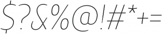 TT Teds Thin Italic otf (100) Font OTHER CHARS