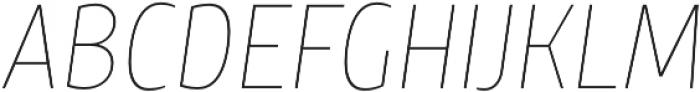 TT Teds Thin Italic otf (100) Font UPPERCASE
