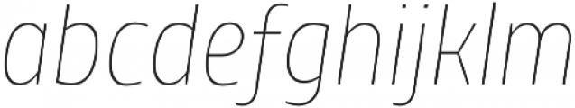 TT Teds Thin Italic otf (100) Font LOWERCASE