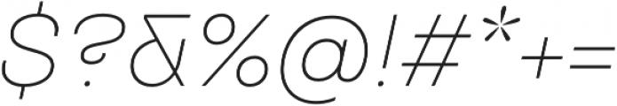 TT Travels ExtraLight Italic otf (200) Font OTHER CHARS