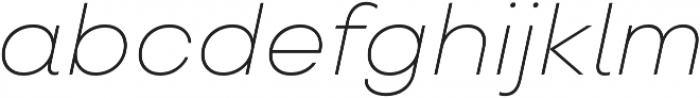 TT Travels ExtraLight Italic otf (200) Font LOWERCASE
