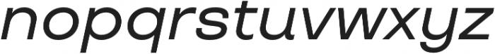 TT Travels Medium Italic otf (500) Font LOWERCASE