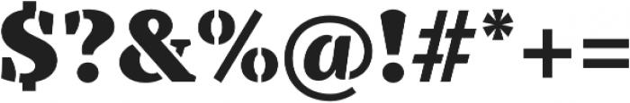TT Tricks Stencil Black otf (900) Font OTHER CHARS