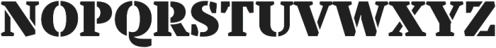 TT Tricks Stencil Black otf (900) Font UPPERCASE