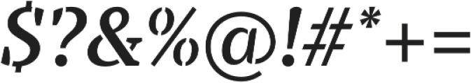 TT Tricks Stencil DemiBold Italic otf (600) Font OTHER CHARS
