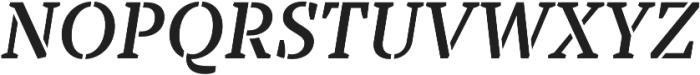 TT Tricks Stencil DemiBold Italic otf (600) Font UPPERCASE