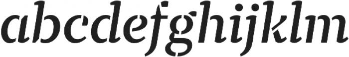 TT Tricks Stencil DemiBold Italic otf (600) Font LOWERCASE