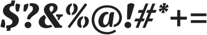 TT Tricks Stencil ExtraBold Italic otf (700) Font OTHER CHARS