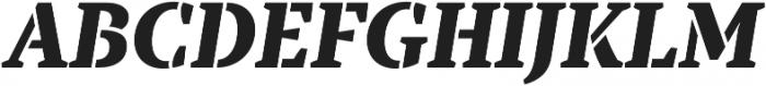 TT Tricks Stencil ExtraBold Italic otf (700) Font UPPERCASE