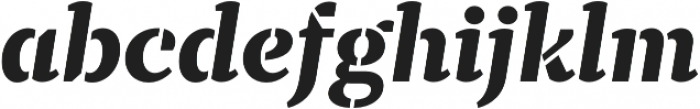 TT Tricks Stencil ExtraBold Italic otf (700) Font LOWERCASE