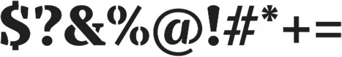 TT Tricks Stencil ExtraBold otf (700) Font OTHER CHARS