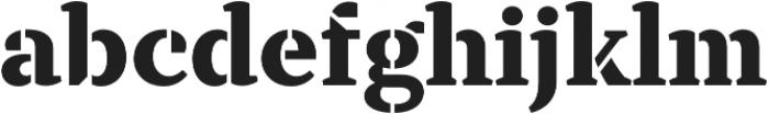 TT Tricks Stencil ExtraBold otf (700) Font LOWERCASE