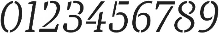 TT Tricks Stencil Light Italic otf (300) Font OTHER CHARS