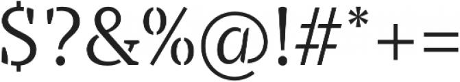 TT Tricks Stencil Light otf (300) Font OTHER CHARS