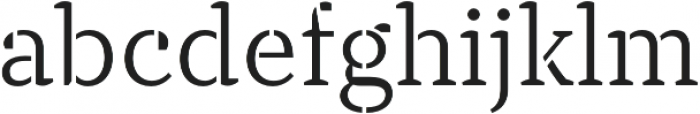 TT Tricks Stencil Light otf (300) Font LOWERCASE