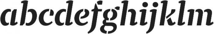 TT Tricks Stencil otf (700) Font LOWERCASE