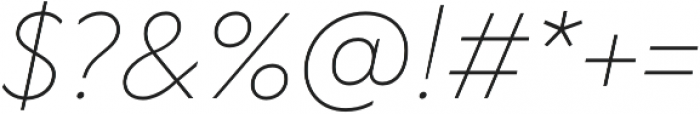 TT Wellingtons ExtraLight Italic otf (200) Font OTHER CHARS