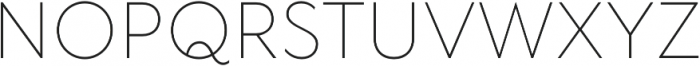 TT Wellingtons ExtraLight otf (200) Font UPPERCASE