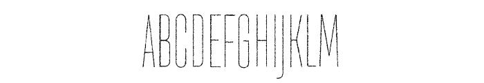 TT Directors DEMO Thin Rough Thin Font UPPERCASE