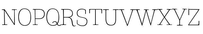 TTCoatsLight-DEMO Font UPPERCASE