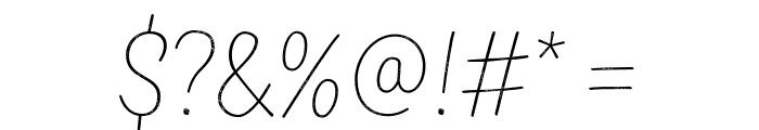 TTMastersDEMORoughThin Font OTHER CHARS