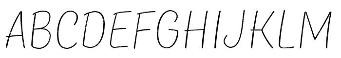 TTMastersDEMORoughThin Font LOWERCASE