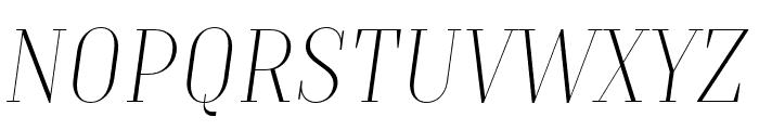 TTMoonsThinDEMO-Italic Font UPPERCASE