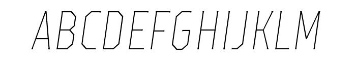 TTOctasThinItalic-DEMO Font LOWERCASE