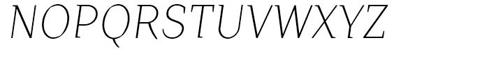 TT Crimsons Light Italic Font UPPERCASE