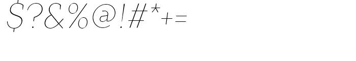 TT Crimsons Thin Italic Font OTHER CHARS