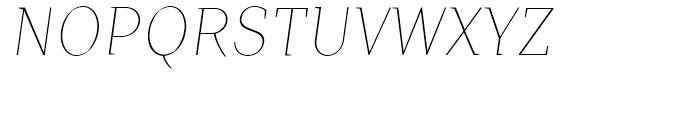 TT Crimsons Thin Italic Font UPPERCASE