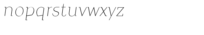 TT Crimsons Thin Italic Font LOWERCASE