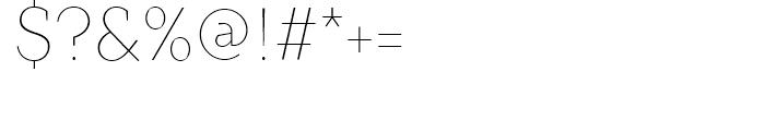 TT Crimsons Thin Font OTHER CHARS