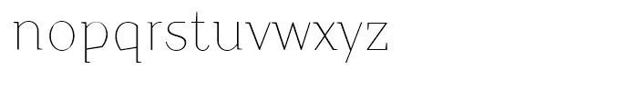 TT Crimsons Thin Font LOWERCASE