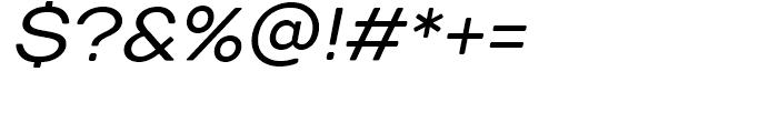 TT Days Sans Italic Font OTHER CHARS