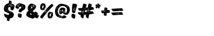 TT Masters Rough Black Font OTHER CHARS