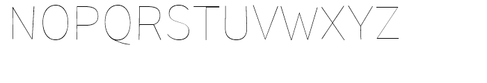 TT Pines Thin Font UPPERCASE