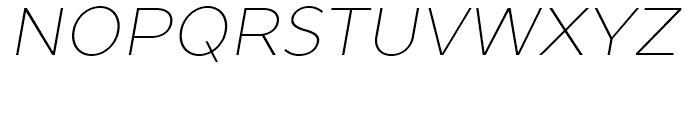 TT Prosto Sans Thin Italic Font UPPERCASE