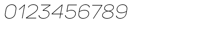 TT Rounds Thin Italic Font OTHER CHARS