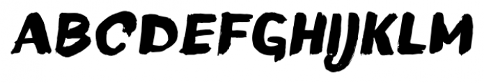 TT Blushes Black Italic Font UPPERCASE