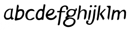 TT Blushes Italic Font LOWERCASE